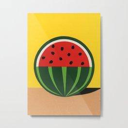 Three Quarter Watermelon Metal Print
