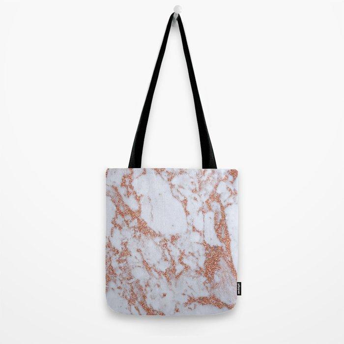 Intense rose gold marble Tote Bag