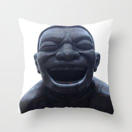 He Laughs Also Throw Pillow