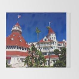 Hotel Del Coronado Facade Throw Blanket
