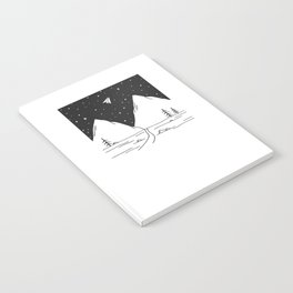 """Fly Away"" - Paper Plane Landscape Notebook"