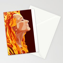 fire on fire Stationery Cards