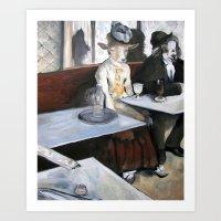 degas Art Prints featuring Degas' Goat Drinking Absinthe  by MollyK