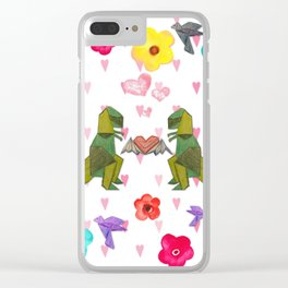 T-Rex Luvs Takes Flight Clear iPhone Case