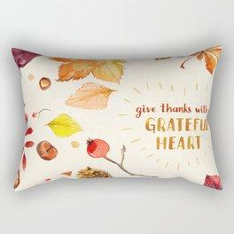 Grateful Heart Rectangular Pillow