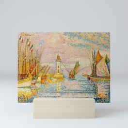 "Paul Signac ""Le phare, Groix"" Mini Art Print"