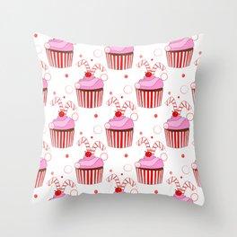 Christmas Cupcakes Throw Pillow