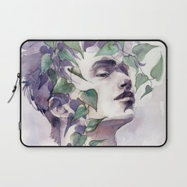 A man with ivy, watercolor portrait Laptop Sleeve