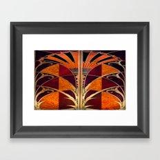 Gold Deco Framed Art Print