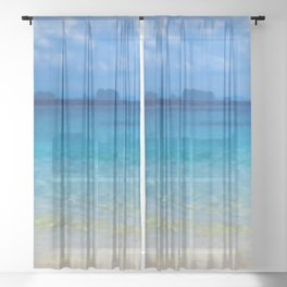 Serene and peaceful ocean Sheer Curtain