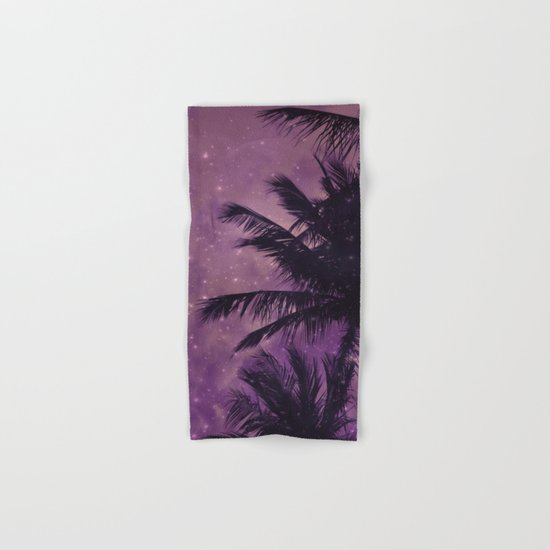 Purple Sky Palm Hand & Bath Towel