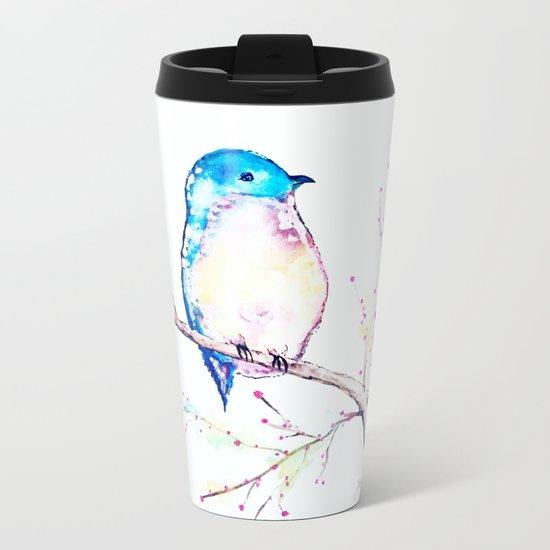 Little Bluebird Metal Travel Mug