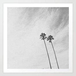 PALM TREES II (B+W) Art Print