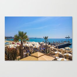 Lunch At The Carlton Pier In Cannes Canvas Print