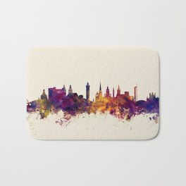 Glasgow Scotland Skyline Bath Mat