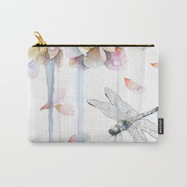 Peonies and Dragonfly, Serenity, Harmony Carry-All Pouch