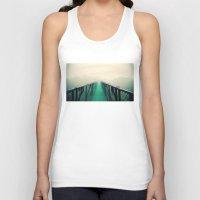 bridge Tank Tops featuring suspension bridge by Sookie Endo