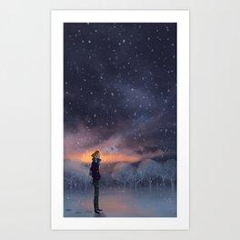 Ten Thousand Snowflakes Art Print