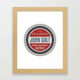 Free Market Hero Framed Art Print