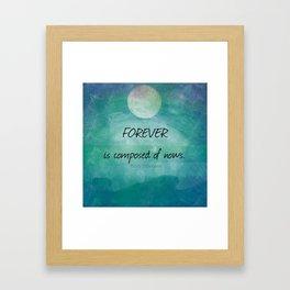 Inspirational ocean sea Emily Dickinson quote Framed Art Print
