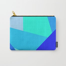 Blue Geometric Shapes Carry-All Pouch