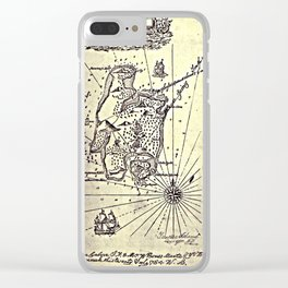 Map of Treasure Island (1883) Clear iPhone Case