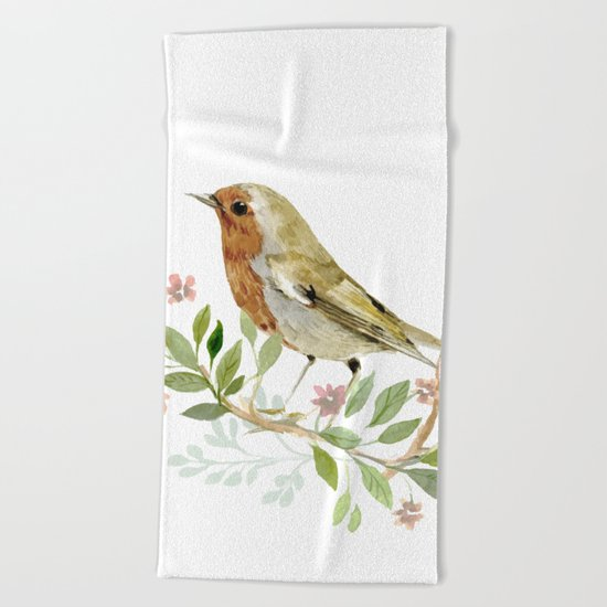 bird 3 Beach Towel
