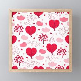 Valentines Day Heart Trees Framed Mini Art Print