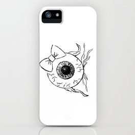 Eyeball Lady iPhone Case