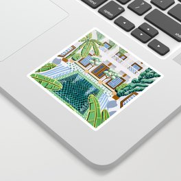 Moroccan Oasis Sticker