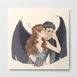 Rhysand and Feyre Metal Print