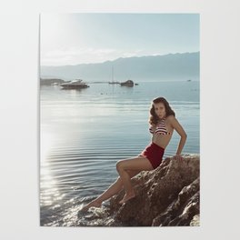 Morning Swim Poster