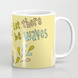 let there be waves for christmas surf art by surfy birdy Coffee Mug
