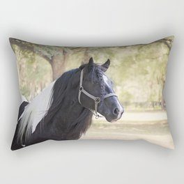 Stunning Gypsy Vanner in Color Rectangular Pillow