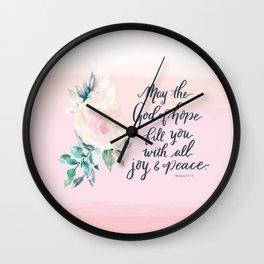 Joy and Peace Tote Wall Clock
