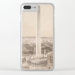 Vintage Pictorial Map of Washington DC (1852) Clear iPhone Case