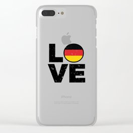 Germany Flag Shirt German Gift Idea Love Clear iPhone Case