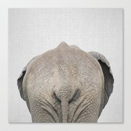 Elephant Tail - Colorful Canvas Print