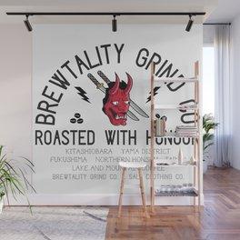 Brewtality Grind Co. X Salt Clothing Co. Samurai Design Wall Mural
