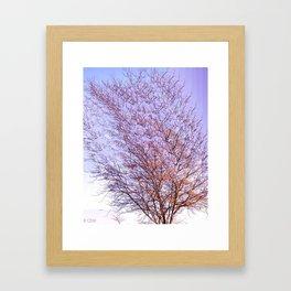 Trippy Tree in Autumn Framed Art Print