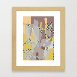 Lifescape fragments Framed Art Print