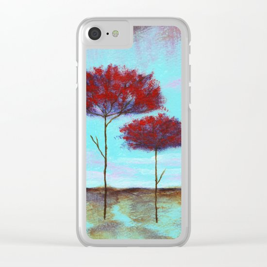 Cherished, Abstract Landscape Clear iPhone Case