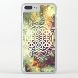 Flower Of Life (Nature's Beauty) Clear iPhone Case