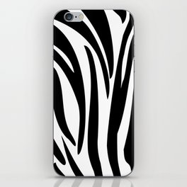 Zebra trendy design artwork animal exotic pattern iPhone Skin
