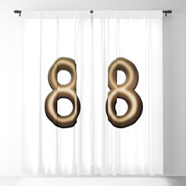 Chocolate Number 8 Blackout Curtain