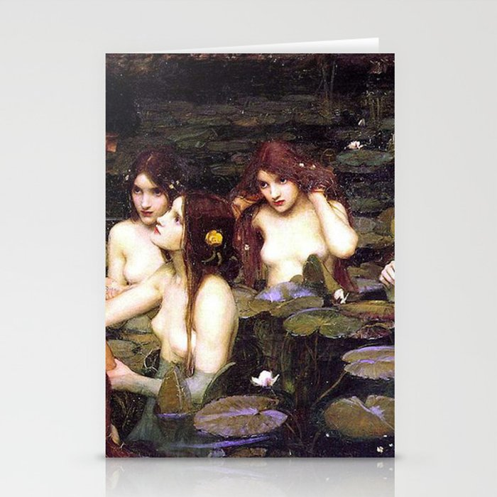 HYLAS AND THE NYMPHS - WATERHOUSE Stationery Cards