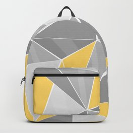 Pattern, grey - yellow Backpack