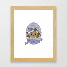 Ms. Hedgehog Framed Art Print