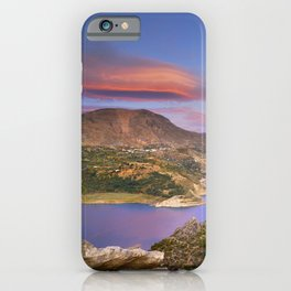 Lenticular clouds at the red sunset iPhone Case