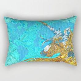 Ancient Magic World Map Wall Art Rectangular Pillow
